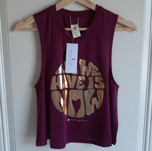 NWT Spiritual Gangster Active Crop Tank Size XS